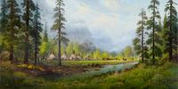 Land of the Yosemite 50 x 98in